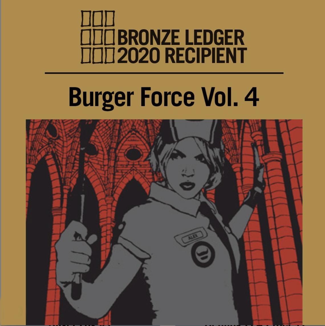 Burger Force Ledger Award announcement